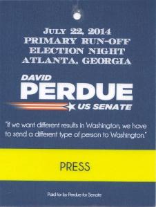 David Perdue for US Senate - Press Pass