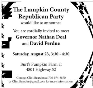 Lumpkin County GOP Invite