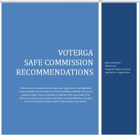 VoteGA Safe Commission Cover Page